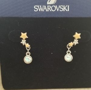 Swarovski star dangle earring
